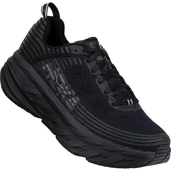 ホッカオネオネ メンズ ランニング スポーツ Hoka One One Men's Bondi 6 Shoe Black / Black