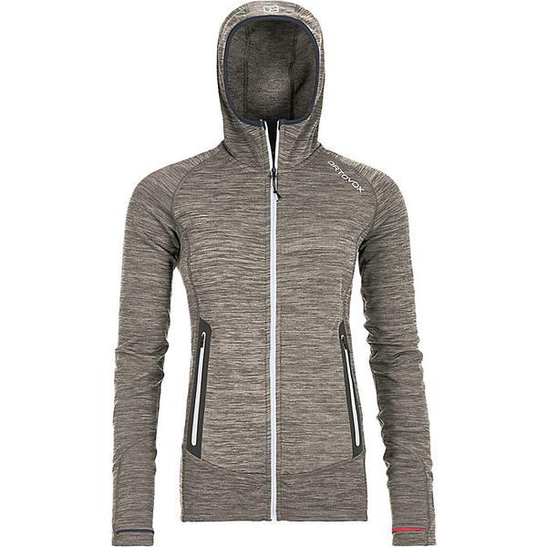 オルトボックス レディース ジャケット&ブルゾン アウター Ortovox Women's Fleece Light Melange Hoody Grey Blend