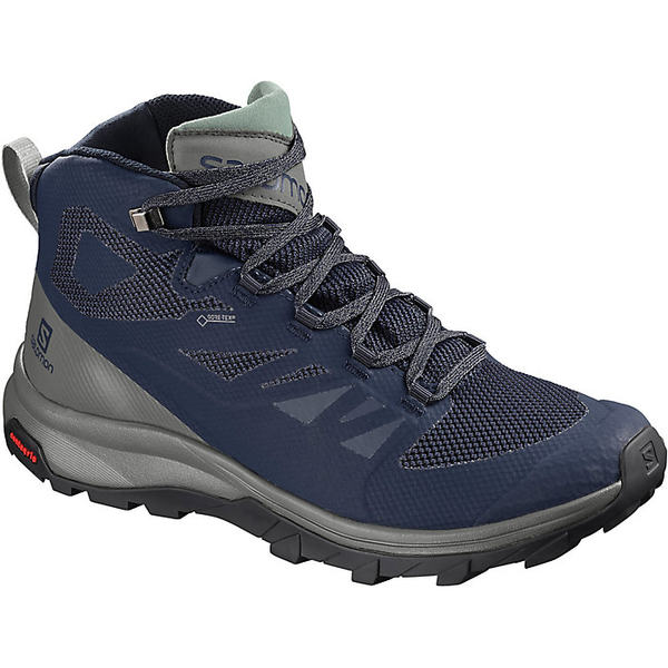 サロモン メンズ ハイキング スポーツ Salomon Men's Outline Mid GTX Boot Medieval Blue / Castor Gray / Green Milieu
