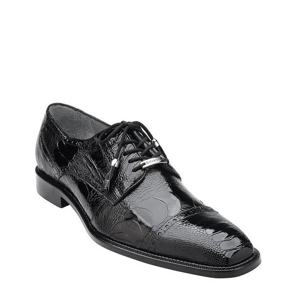 ベルベデール メンズ シューズ ドレスシューズ Black 限定価格セール Ostrich Men's 贈答 Batta Oxford 全商品無料サイズ交換
