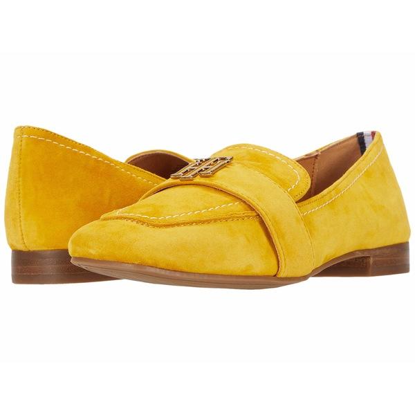 トミー ヒルフィガー レディース スリッポン・ローファー シューズ Trudiy Yellow Suede