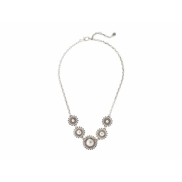 ブライトン レディース ネックレス・チョーカー・ペンダントトップ アクセサリー Telluride Sunburst Collar Necklace Silver