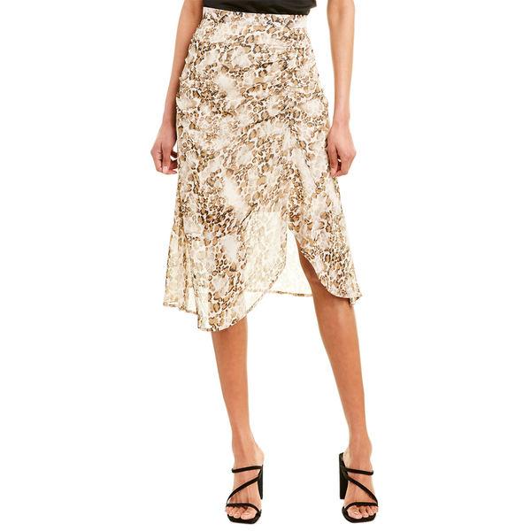 シティースリーク レディース スニーカー シューズ City Sleek Ruched Midi Skirt animal print