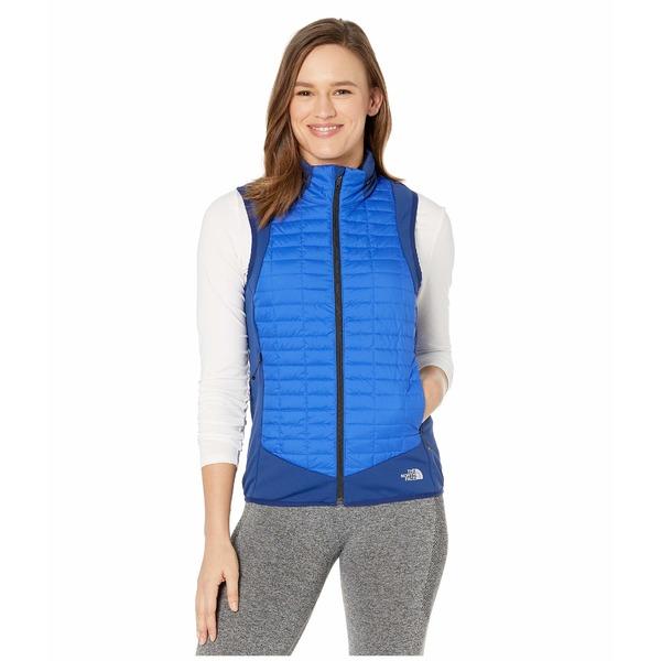 ノースフェイス レディース コート アウター Thermoball Hybrid Vest Flag Blue/TNF Blue