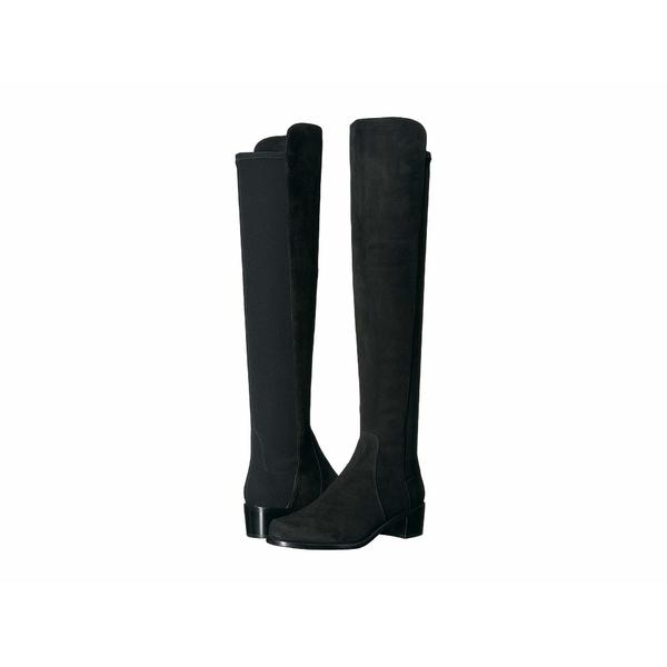 スチュアート ワイツマン レディース ブーツ&レインブーツ シューズ Reserve Knee High Boot Black Suede/Stretch Gabardine