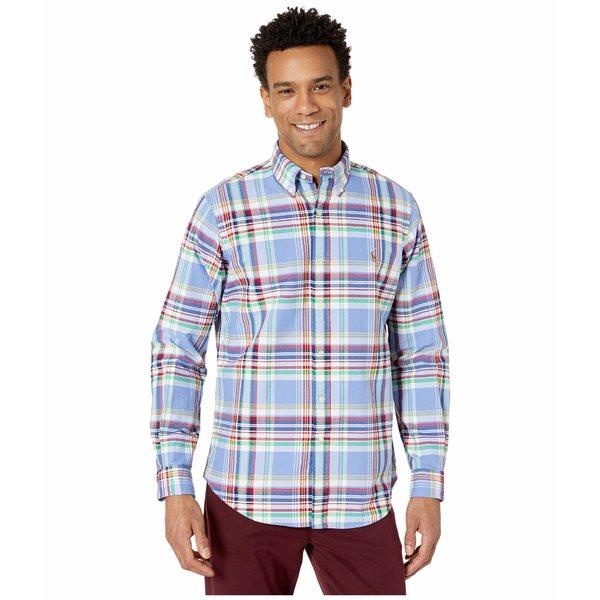 ラルフローレン メンズ シャツ トップス Classic Fit Long Sleeve Oxford Shirt Blue/Red Multi