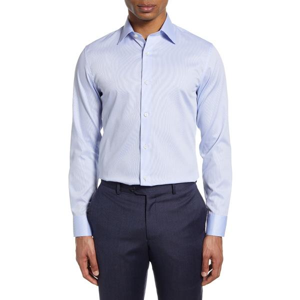 ボノボス メンズ シャツ トップス Slim Fit Dot Print Dress Shirt Colorado Blue
