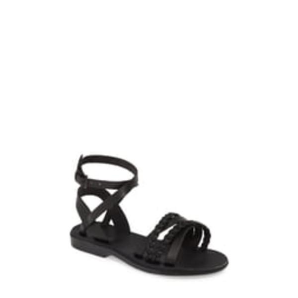 エルサレムサンダル レディース サンダル シューズ Asa Wrap Sandal Black Leather