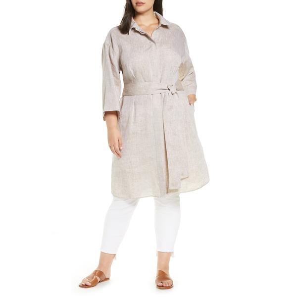 ラファイエットワンフォーエイト レディース ワンピース トップス Rhodes Illustrious Linen Shirtdress Shiitake Melange