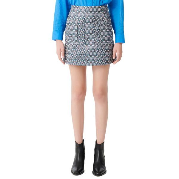 マージュ レディース スカート ボトムス Metallic Geo Miniskirt Light Blue