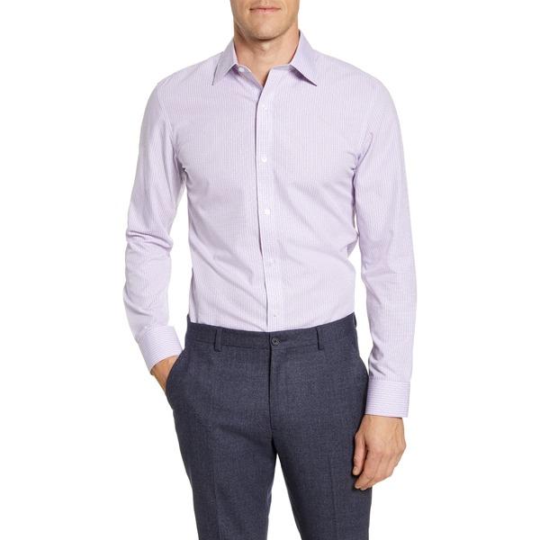 ボノボス メンズ シャツ トップス Trim Fit Check Dress Shirt Check Purple