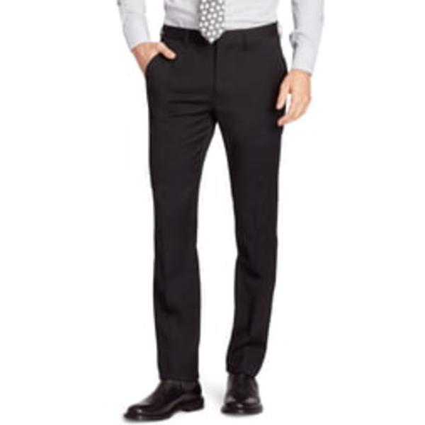ボノボス メンズ カジュアルパンツ ボトムス Jetsetter Slim Fit Flat Front Stretch Wool Dress Pants Black