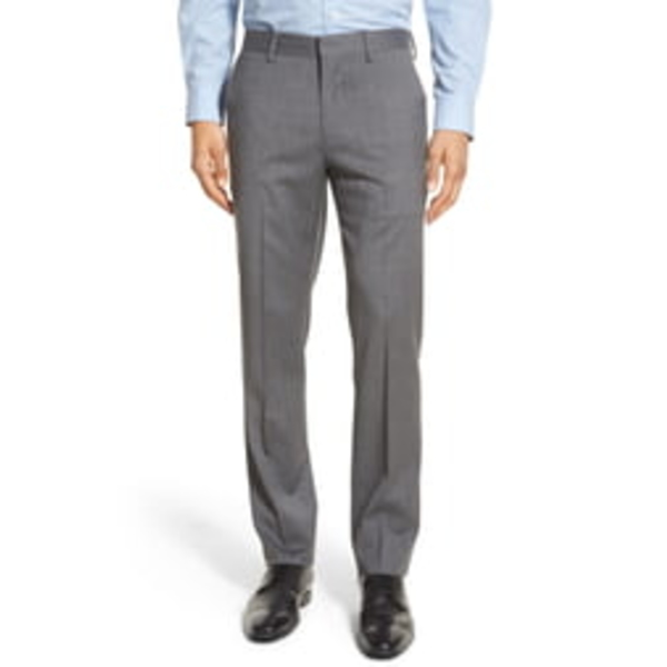 ボノボス メンズ カジュアルパンツ ボトムス Jetsetter Slim Fit Flat Front Stretch Wool Dress Pants Grey