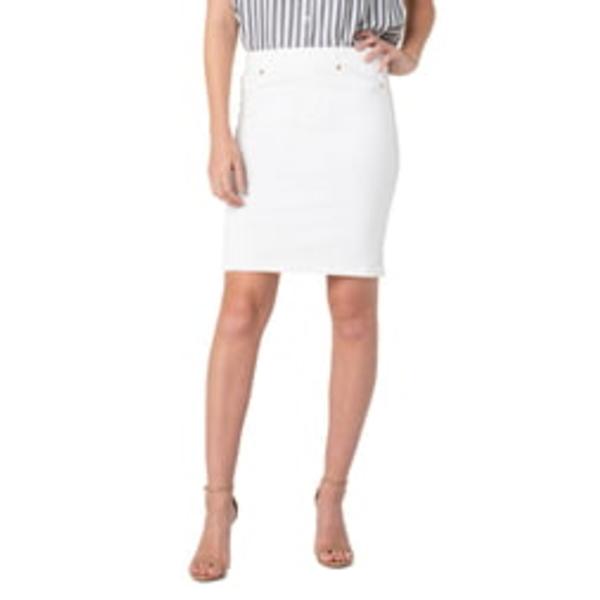 リバプール レディース スカート ボトムス Pull-On Pencil Skirt Bright White