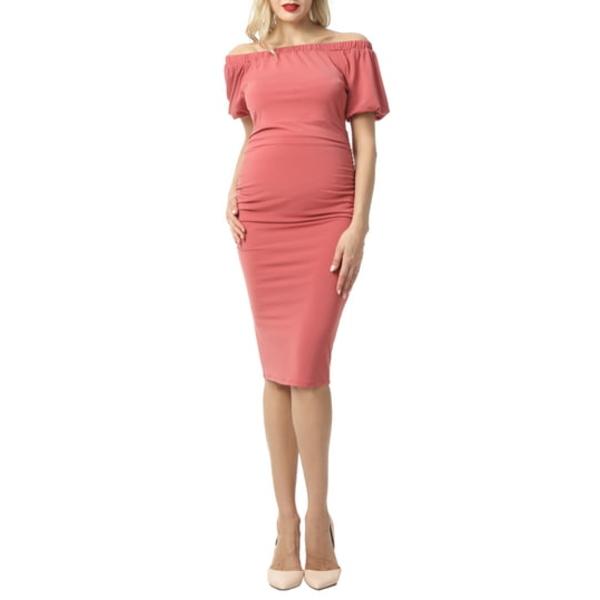 キミアンドカイ レディース ワンピース トップス Becka Convertible Off the Shoulder Maternity Dress Rosette