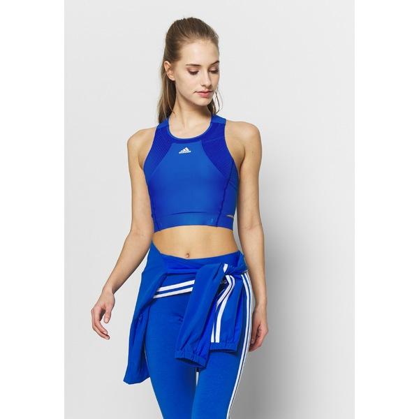 アディダス レディース トップス カットソー glow blue 奉呈 全商品無料サイズ交換 HEAT.RDY 一部予約 Sports fzki014b - shirt TANK