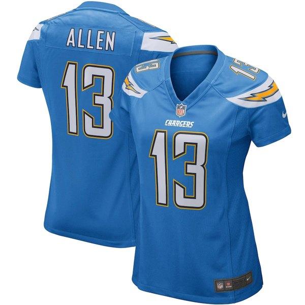 ナイキ レディース シャツ トップス Keenan Allen Los Angeles Chargers Nike Women's Game Player Jersey Powder Blue