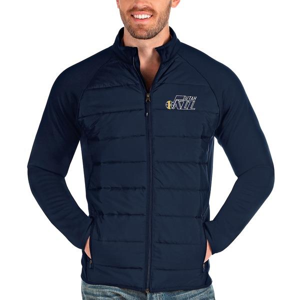アンティグア メンズ ジャケット&ブルゾン アウター Utah Jazz Antigua Altitude Full-Zip Jacket Navy