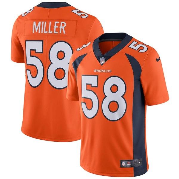 ナイキ メンズ シャツ トップス Von Miller Denver Broncos Nike Vapor Untouchable Limited Player Jersey Orange