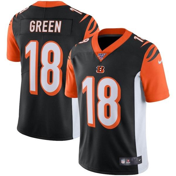 ナイキ メンズ シャツ トップス A.J. Green Cincinnati Bengals Nike NFL 100 Vapor Limited Jersey Black