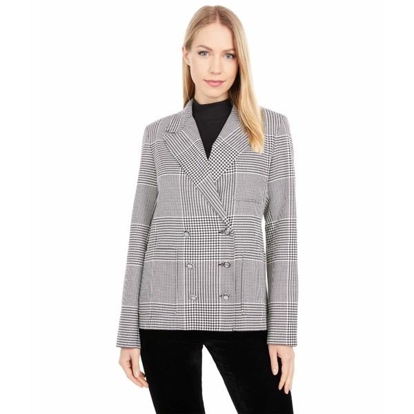 日本最大級 エリオットローレン レディース コート アウター Suits You Double Breasted Blazer with Patch Pocket Detail Black/White, 九谷焼 ほんだ 9d04c87d