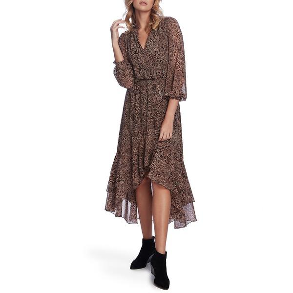 ワンピース ワンステイト Multi レディース Dress High-Low トップス Leopard-Print Carmel