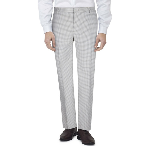 トミー ヒルフィガー メンズ ボトムス カジュアルパンツ Grey Check 全商品無料サイズ交換 Plaid Men's 蔵 Flex 贈り物 Pants Stretch Suit Slim-Fit