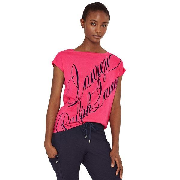 ラルフローレン レディース トップス Tシャツ Nouveau Bright 全商品無料サイズ交換 T-Shirt Boatneck Oversized 訳ありセール 格安 Pink 豪華な