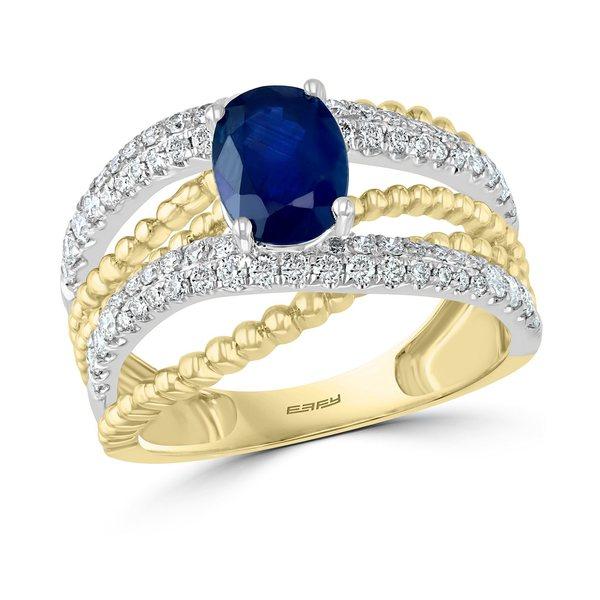 超格安価格 エフィー コレクション Sapphire レディース リング アクセサリー EFFY® Gold Sapphire ct. (1-3/8 ct. t.w.) & Diamond (5/8 ct. t.w.) Crisscross Ring in 14k Gold & White Gold Sapphire Ring, GROWING RICH:e60cebc6 --- unlimitedrobuxgenerator.com