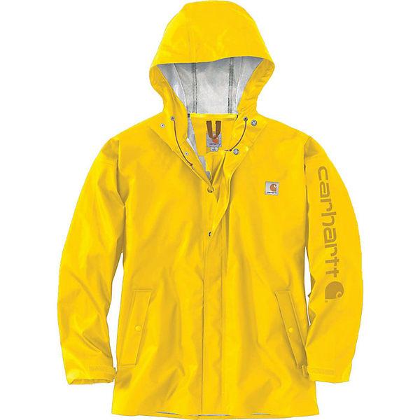 カーハート メンズ ジャケット&ブルゾン アウター Carhartt Men's Lightweight Waterproof Rainstorm Jacket Yellow