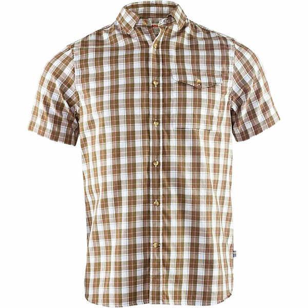 フェールラーベン メンズ シャツ トップス Fjallraven Men's Singi SS Shirt Savanna