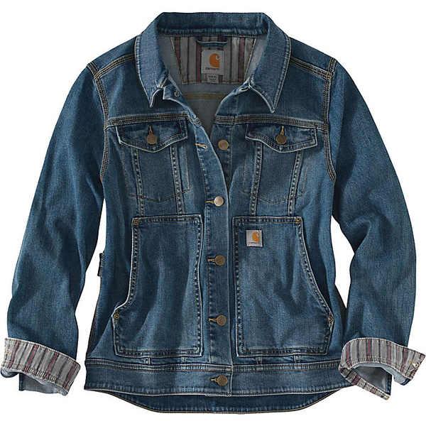 カーハート レディース ジャケット&ブルゾン アウター Carhartt Women's Benson Denim Jacket Stonewash