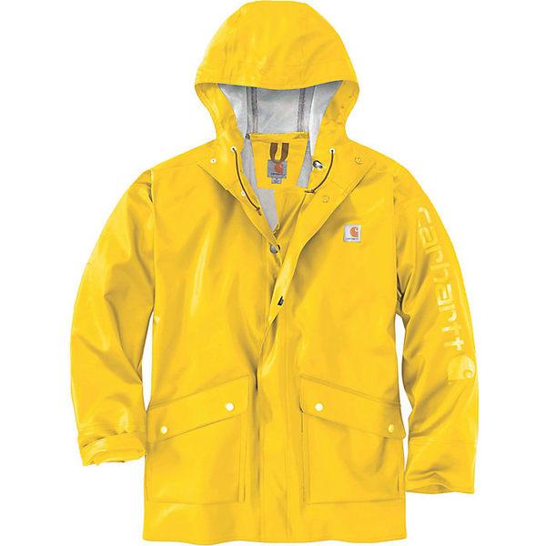 カーハート メンズ ジャケット&ブルゾン アウター Carhartt Men's Midweight Waterproof Rain Storm Coat Yellow