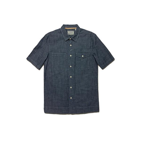 ジェレミア メンズ シャツ トップス Jeremiah Men's Merrick Printed Chambray Shirt Victoria