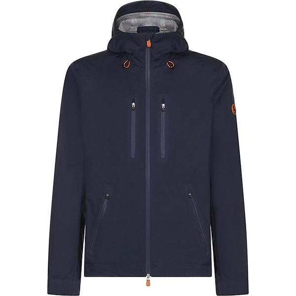 セーブザダック メンズ ジャケット&ブルゾン アウター Save The Duck Men's 4-Pocket Zip Up Rain Coat Navy Blue