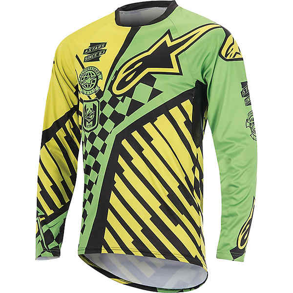 アルパインスターズ メンズ サイクリング スポーツ Alpine Stars Men's Sight Speedster LS Jersey Bright Green / Acid Yellow