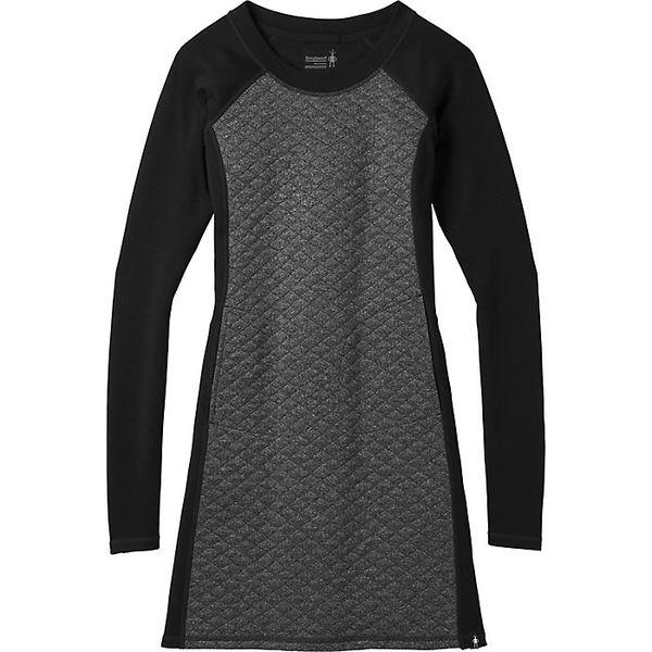 スマートウール レディース ワンピース トップス Smartwool Women's Diamond Peak Quilted Dress Black Heather