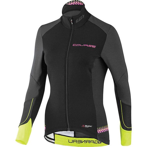 イルスガーナー レディース サイクリング スポーツ Louis Garneau Women's Course Wind Pro LS Jersey Black / Yellow / Pink