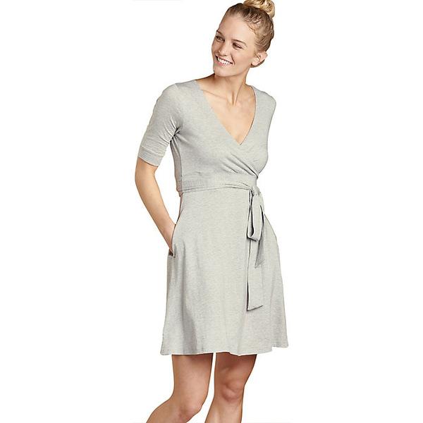トードアンドコー レディース ワンピース トップス Toad & Co Women's Cue Wrap CafT Dress Heather Grey