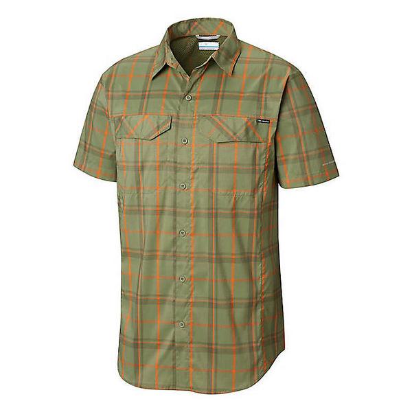 コロンビア メンズ ハイキング スポーツ Columbia Men's Silver Ridge Lite Plaid SS Shirt Mosstone Large Plaid