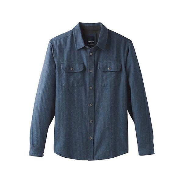 プラーナ メンズ シャツ トップス Prana Men's Lybeck LS Shirt Equinox Blue Herringbone