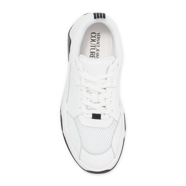 ヴェルサーチ メンズ 店 シューズ スニーカー Leather 全商品無料サイズ交換 Sneaker WHITE 格安SALEスタート