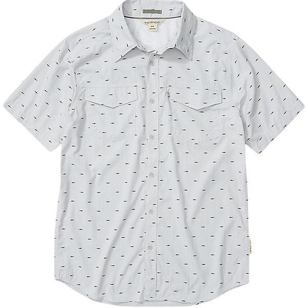 エクスオフィシオ メンズ シャツ トップス ExOfficio Men's Estacado SS Shirt Oyster Micro Fish
