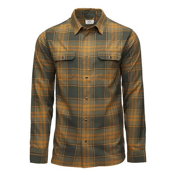フライロー メンズ シャツ トップス Flylow Men's Handlebar Tech Flannel Shirt Kombu/Rye (Plaid)
