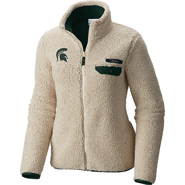 コロンビア レディース ジャケット&ブルゾン アウター Columbia Women's Collegiate Mountain Side Heavyweight Fleece Jacket Ms - Chalk / Spruce