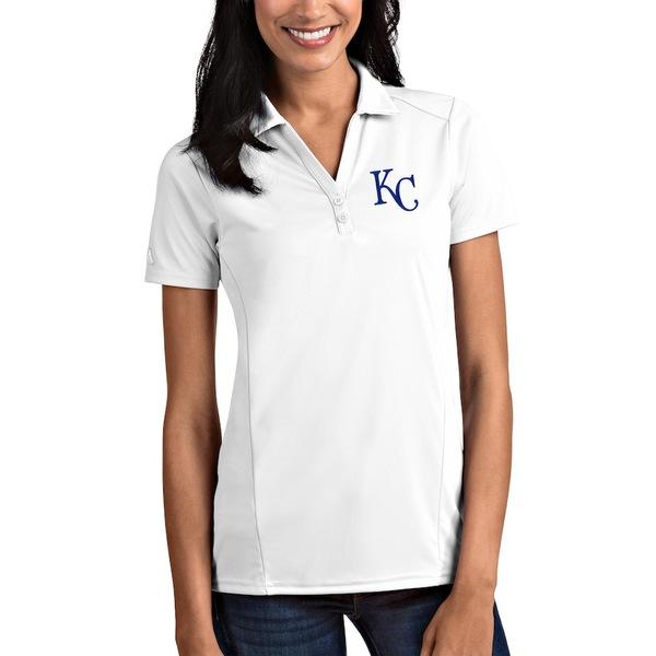アンティグア レディース ポロシャツ トップス Kansas City Royals Antigua Women's Tribute Polo White