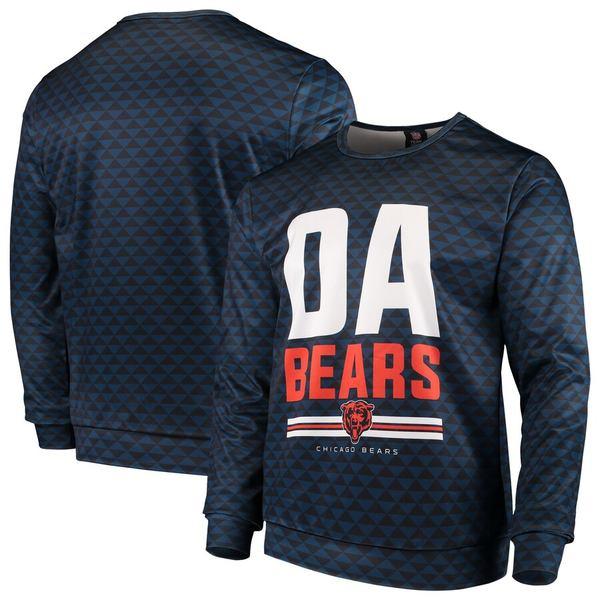 フォコ メンズ パーカー・スウェットシャツ アウター Chicago Bears Slogan Pullover Sweatshirt Navy