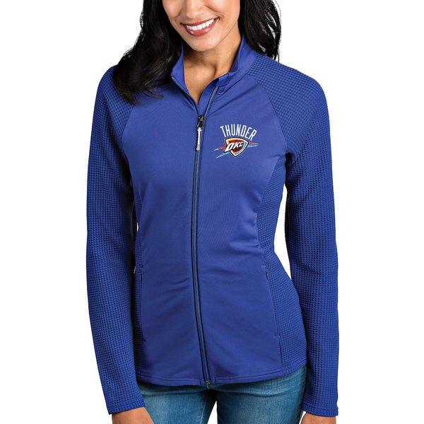 アンティグア レディース ジャケット&ブルゾン アウター Oklahoma City Thunder Antigua Women's Sonar Full-Zip Jacket Royal