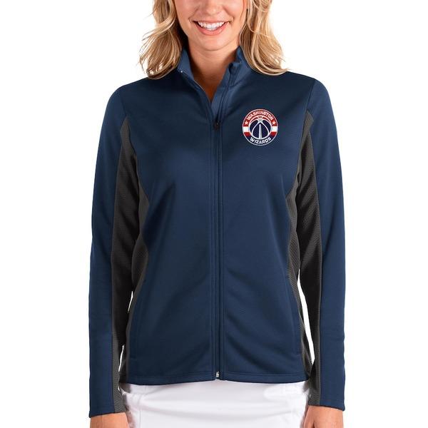 アンティグア レディース ジャケット&ブルゾン アウター Washington Wizards Antigua Women's Passage Full-Zip Jacket Navy/Charcoal