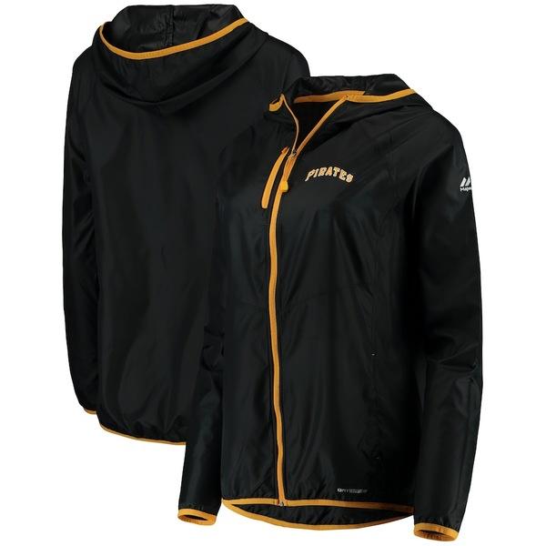 マジェスティック レディース ジャケット&ブルゾン アウター Pittsburgh Pirates Majestic Women's Absolute Dominance Full-Zip Jacket Black